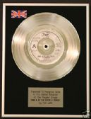 "THE JAM - 7"" Platinum Disc - DOWN IN THE TUBESTATION"